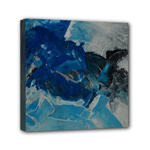 Blue Abstract No  6 Mini Canvas 6  X 6  by timelessartoncanvas