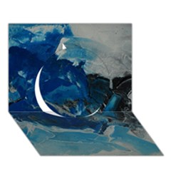 Blue Abstract No  6 Circle 3d Greeting Card (7x5)