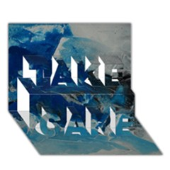 Blue Abstract No  6 Take Care 3d Greeting Card (7x5)