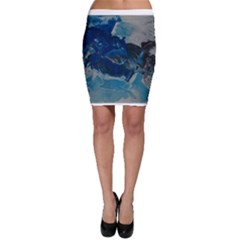 Blue Abstract No  6 Bodycon Skirts