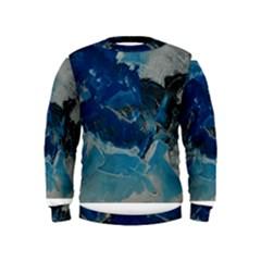 Blue Abstract No  6 Boys  Sweatshirts by timelessartoncanvas