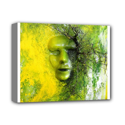 Green Mask Deluxe Canvas 14  X 11  by timelessartoncanvas