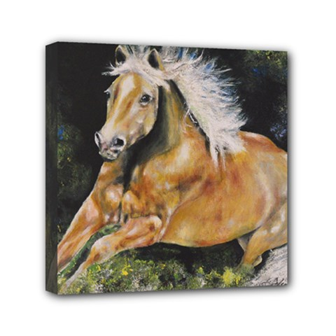Mustang Mini Canvas 6  X 6  by timelessartoncanvas