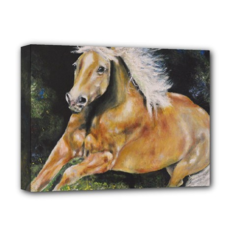 Mustang Deluxe Canvas 16  X 12   by timelessartoncanvas