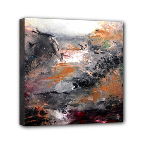 Natural Abstract Landscape Mini Canvas 6  X 6  by timelessartoncanvas