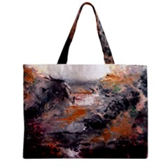 Natural Abstract Landscape Zipper Tiny Tote Bags by timelessartoncanvas