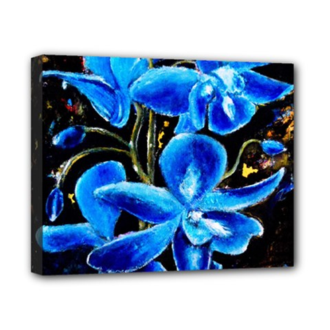 Bright Blue Abstract Flowers Canvas 10  X 8  by timelessartoncanvas