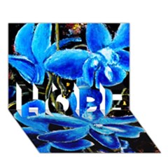 Bright Blue Abstract Flowers Hope 3d Greeting Card (7x5)