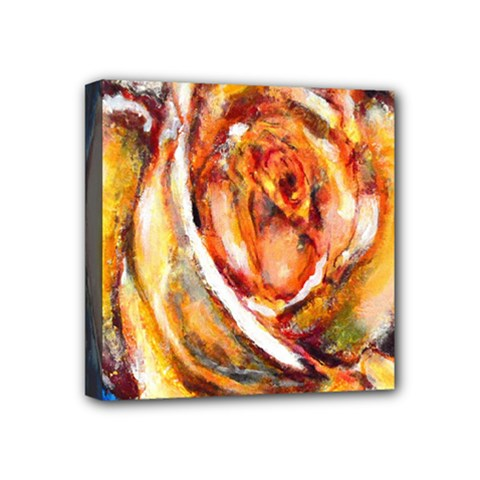 Abstract Rose Mini Canvas 4  X 4  by timelessartoncanvas