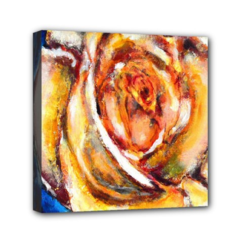 Abstract Rose Mini Canvas 6  X 6  by timelessartoncanvas