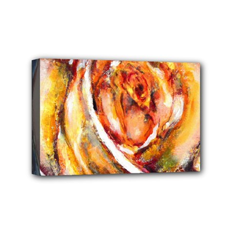 Abstract Rose Mini Canvas 6  X 4  by timelessartoncanvas
