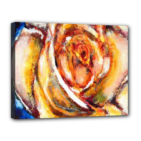 Abstract Rose Canvas 14  X 11  by timelessartoncanvas