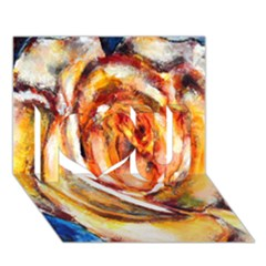Abstract Rose I Love You 3d Greeting Card (7x5)