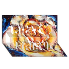 Abstract Rose Best Friends 3d Greeting Card (8x4)