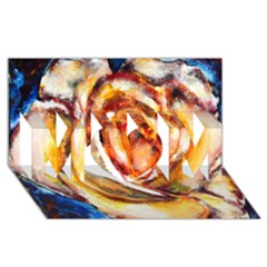 Abstract Rose Mom 3d Greeting Card (8x4)  by timelessartoncanvas