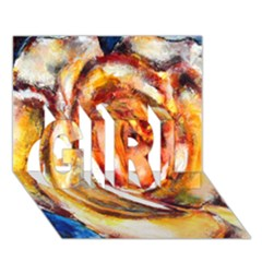 Abstract Rose Girl 3d Greeting Card (7x5)