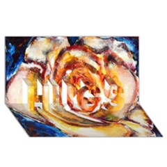 Abstract Rose Hugs 3d Greeting Card (8x4)  by timelessartoncanvas