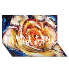 Abstract Rose Engaged 3d Greeting Card (8x4)  by timelessartoncanvas