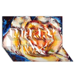 Abstract Rose Merry Xmas 3d Greeting Card (8x4)