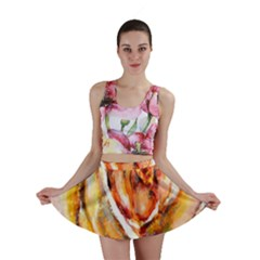 Abstract Rose Mini Skirts by timelessartoncanvas