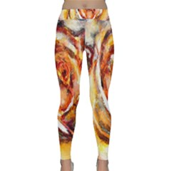 Abstract Rose Yoga Leggings by timelessartoncanvas