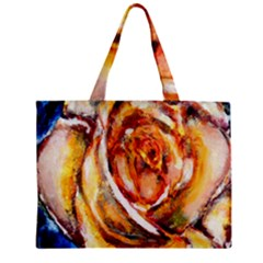Abstract Rose Zipper Tiny Tote Bags by timelessartoncanvas
