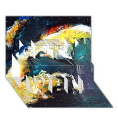 Abstract Space Nebula Get Well 3d Greeting Card (7x5)  by timelessartoncanvas