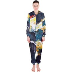 Abstract Space Nebula Hooded Jumpsuit (ladies)