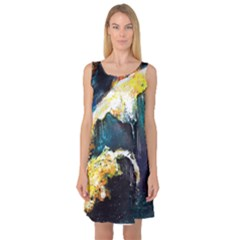 Abstract Space Nebula Sleeveless Satin Nightdresses by timelessartoncanvas