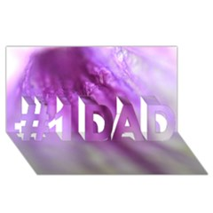 Purple Flower Pedal #1 Dad 3d Greeting Card (8x4)