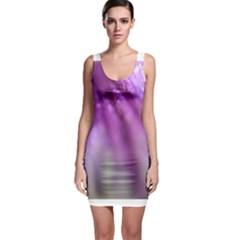 Purple Flower Pedal Bodycon Dresses by timelessartoncanvas