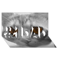 Funny Cat #1 Dad 3d Greeting Card (8x4)  by timelessartoncanvas