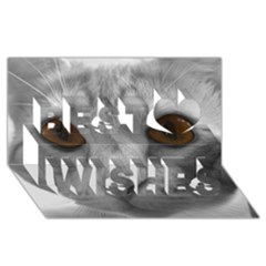 Funny Cat Best Wish 3d Greeting Card (8x4)  by timelessartoncanvas