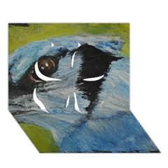 Blue Jay Clover 3d Greeting Card (7x5)  by timelessartoncanvas