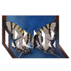 Butterfly Mom 3d Greeting Card (8x4)  by timelessartoncanvas