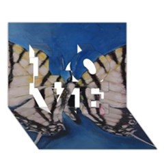 Butterfly Love 3d Greeting Card (7x5)  by timelessartoncanvas