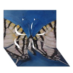 Butterfly Clover 3d Greeting Card (7x5)  by timelessartoncanvas