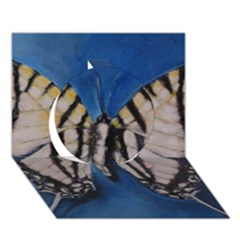 Butterfly Circle 3d Greeting Card (7x5)  by timelessartoncanvas