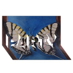 Butterfly Party 3d Greeting Card (8x4)  by timelessartoncanvas