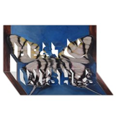 Butterfly Best Wish 3d Greeting Card (8x4)  by timelessartoncanvas