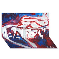Sensual Party 3d Greeting Card (8x4)  by timelessartoncanvas