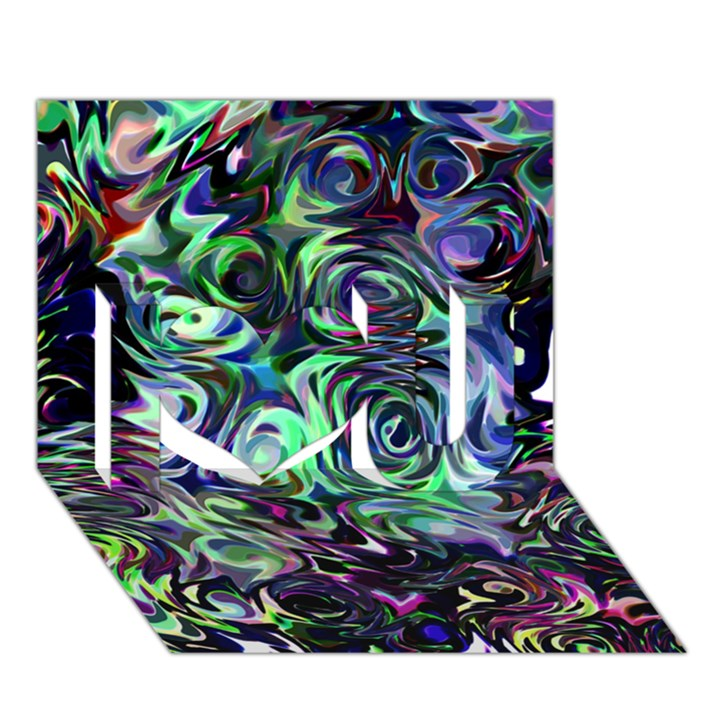 Colour Play Flowers I Love You 3D Greeting Card (7x5)