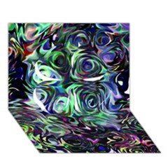 Colour Play Flowers Clover 3d Greeting Card (7x5)  by InsanityExpressed