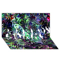 Colour Play Flowers Sorry 3d Greeting Card (8x4)  by InsanityExpressed