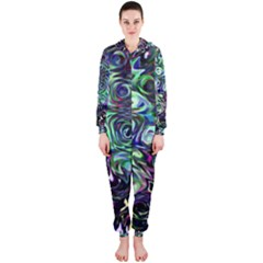 Colour Play Flowers Hooded Jumpsuit (Ladies)  by InsanityExpressed