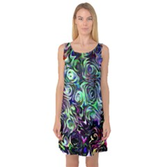 Colour Play Flowers Sleeveless Satin Nightdresses by InsanityExpressed