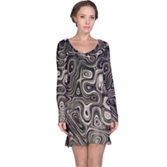 Tile Reflections Alien Skin Dark Long Sleeve Nightdresses