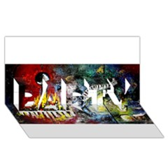Abstract Music Painting Party 3d Greeting Card (8x4)  by timelessartoncanvas