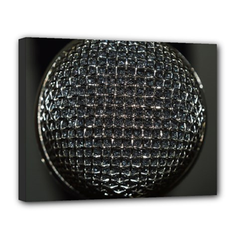 Modern Microphone Canvas 14  X 11  by timelessartoncanvas