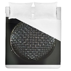 Modern Microphone Duvet Cover Single Side (full/queen Size) by timelessartoncanvas
